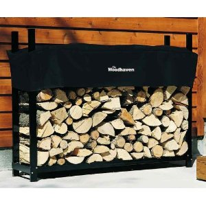 Woodhaven 5 Foot Firewood Rack with Cover