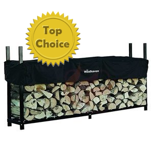 Woodhaven Firewood Rack and Cover (8 foot)