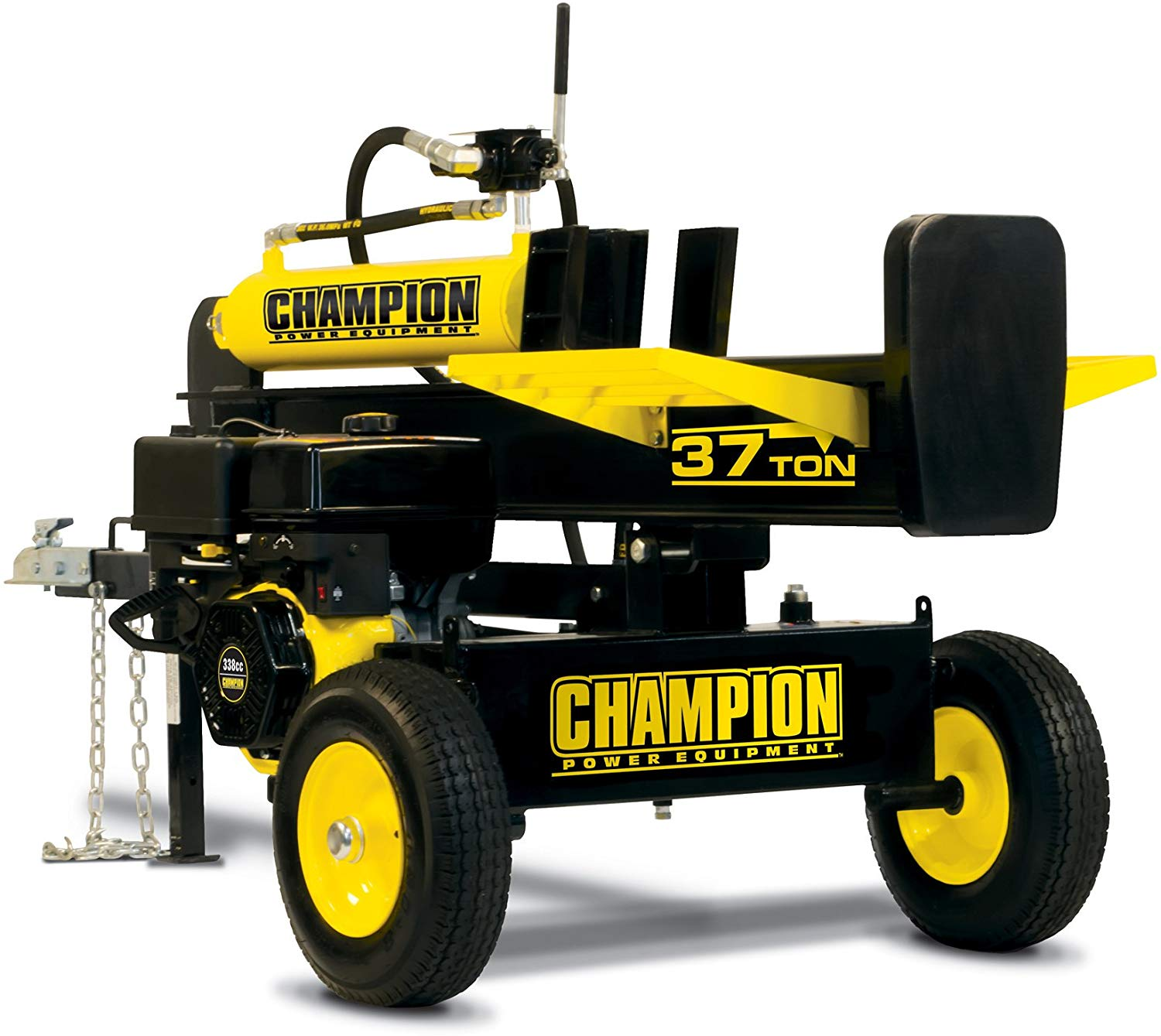 Champion 37-Ton Horizontal Vertical Full Beam Gas Log Splitter with Auto Return