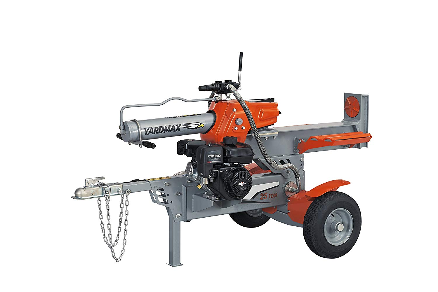 YARDMAX YS2565 25 Ton Half Beam Gas Log Splitter, 4-Way Wedge, Briggs & Stratton, CR950, 6.5HP, 208cc