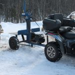 PowerSplit Gas Log Splitter Static Tow Behind Buggy