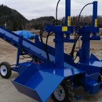 PowerSplit Double Vertical Gas Log Splitter with Conveyor