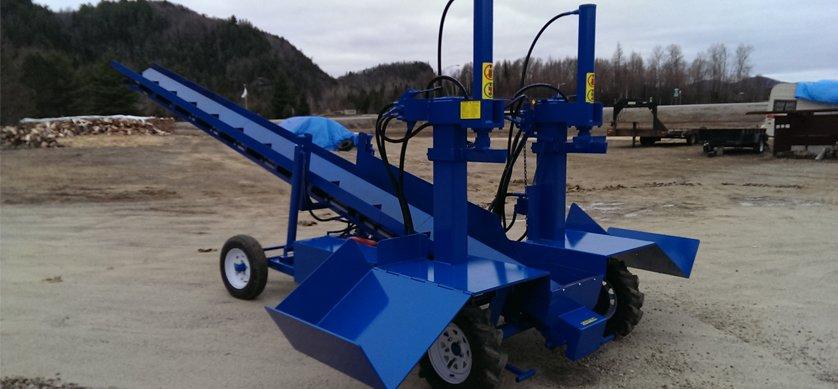PowerSplit Double Vertical Gas Log Splitter with Conveyor