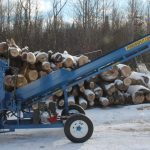 PowerSplit Single Vertical Gas Wood Splitter with Conveyor