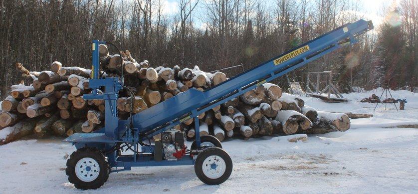 PowerSplit Single Vertical Gas Wood Splitter with Conveyor