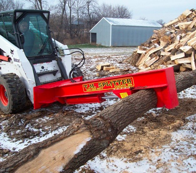 TM Pro Skid Steer Log Splitter Attachment