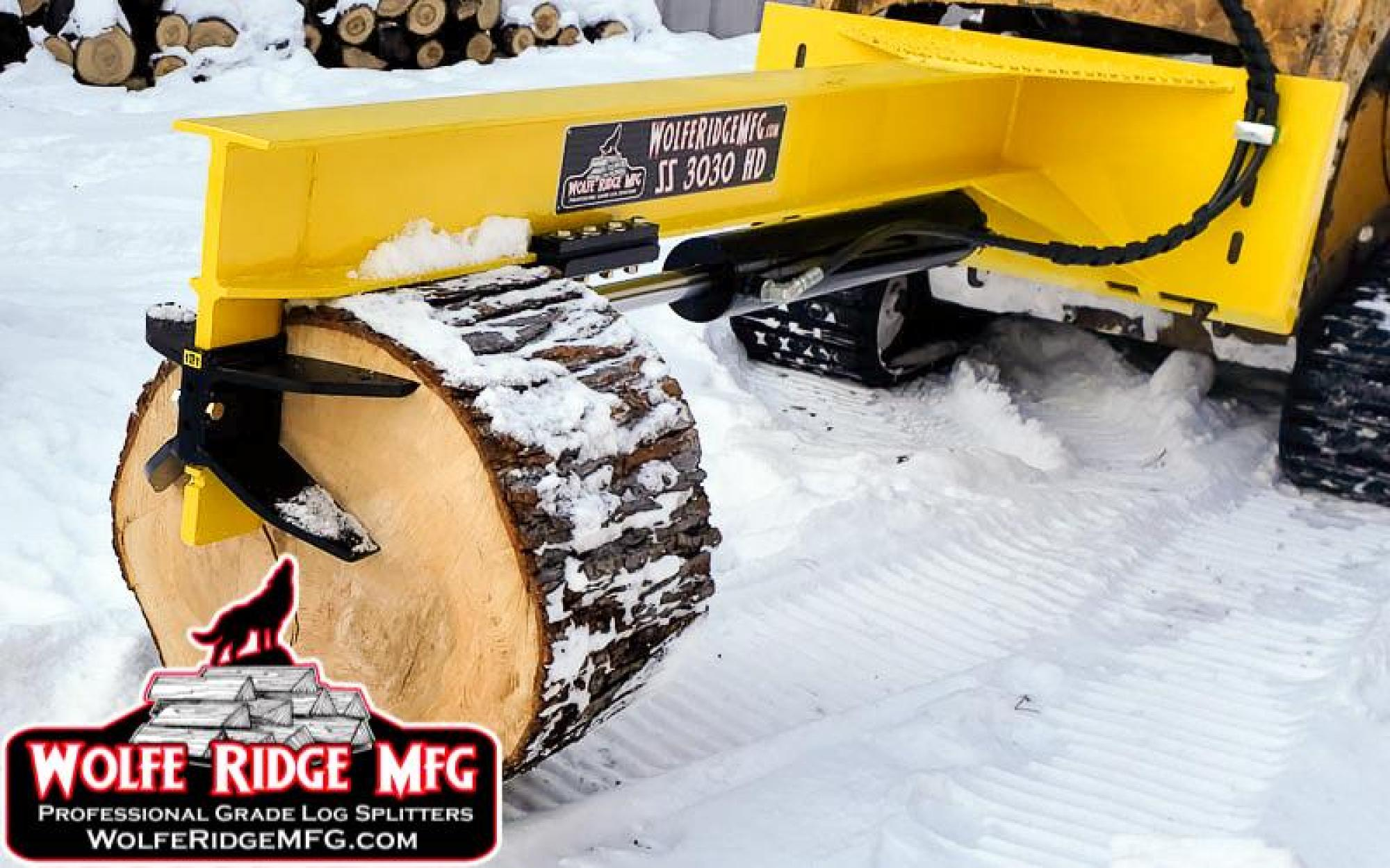 Wolfe Ridge MFG Skid Steer Attachments Inverted Log Splitter